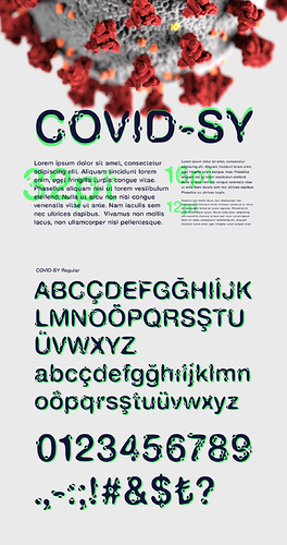 COVID-SY  Free Font for COVID-19