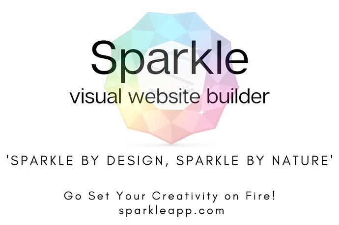 Sparkle visual web design