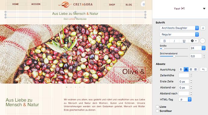 Screenshot Sparkle canvas